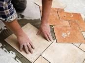 Строительные работы,  Отделочные, внутренние работы Укладка плитки и кафеля, Фото